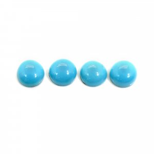 4 Pcs Natural Turquoise 8mm Round Cabochon 7.40 Cts