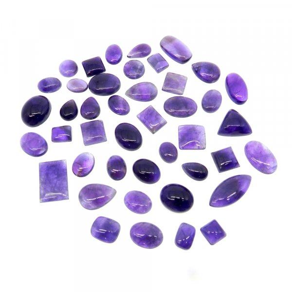 43 Pcs Amethyst Lace Agate Mix Shape Free Form Size Cabochon 100 Gms