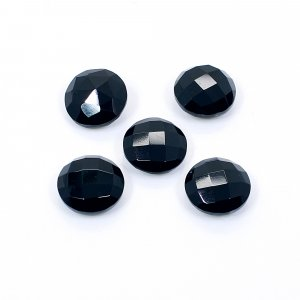 5 Pcs Black Onyx 12mm Round Briolette Cut 27.60Cts