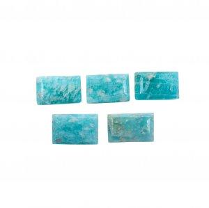 5 Pcs Natural Amazonite 11x7mm Rectangle Cut 15.40 Cts