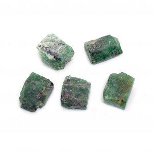 5 Pcs Natural Green Emerald 11x9mm-12x9mm Freeform Rough 28.15 Cts