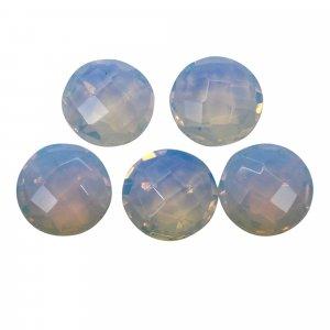 5 Pcs Opalite Hydro 10mm Round Briolette Cut 15.15 Cts