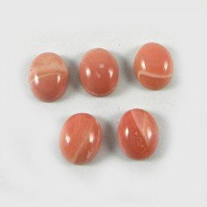 5 Pcs Pink Opal 10x8mm Oval Cabochon 11.5 Cts