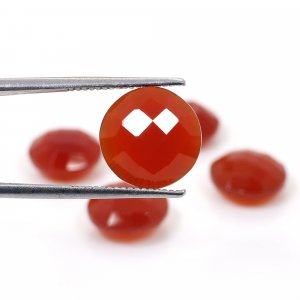5 Pcs Red Onyx 12mm Round Briolette Cut 26.15 Cts