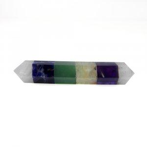 5 Stone Chakra Bonded Pencil 60x10mm Pendulum 60 Cts