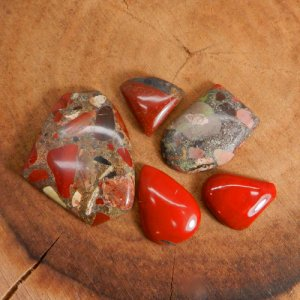 50 Grams Conglomerate Cabochon Mix Shape Wholesale Lot