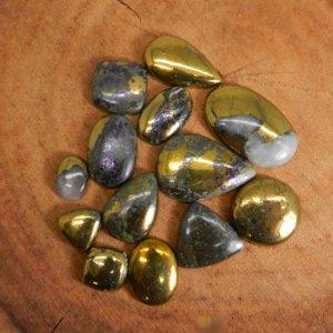 50 Grams Natural Pyrite Mix Shape Cabochon Wholesale Lot