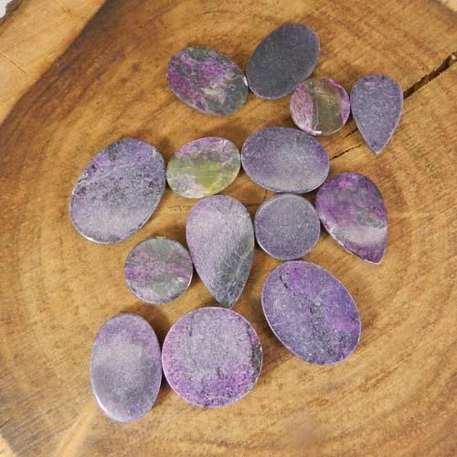 50 Grams Purpurite Mix Shape Cabochon Wholesale Lot