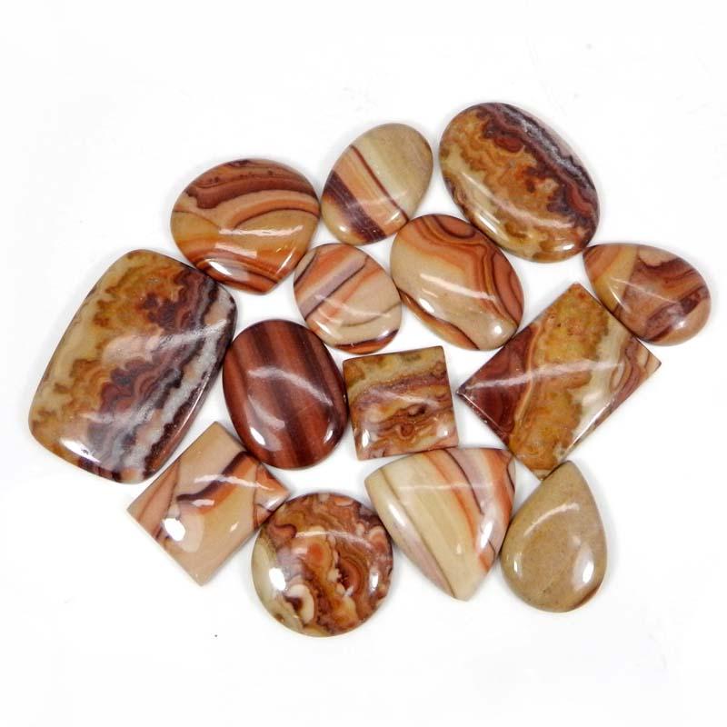 50 Grams Red Creek Jasper Mix Shape Cabochon Wholesale Lot