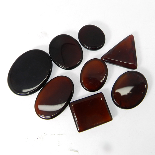 50 Grams Red Onyx Mix Shape Cabochon Wholesale Lot