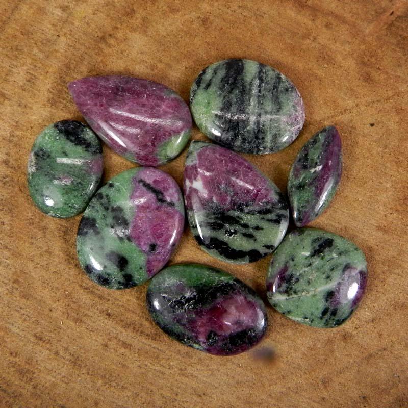 50 Grams Ruby Zoisite Mix Shape Cabochon Wholesale Lot