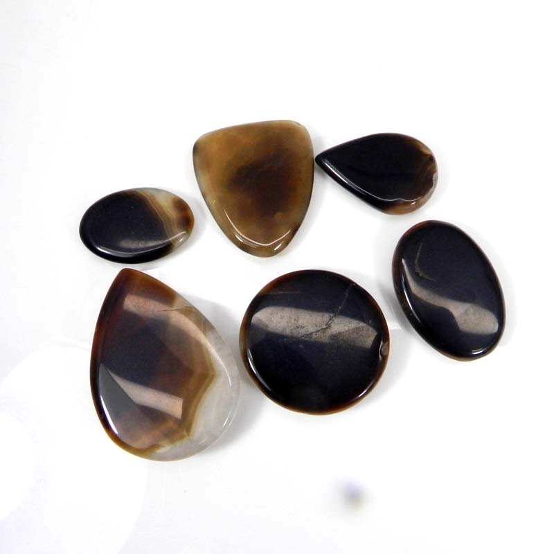 50 Grams Sard Onyx Mix Shape Cabochon Wholesale Lot