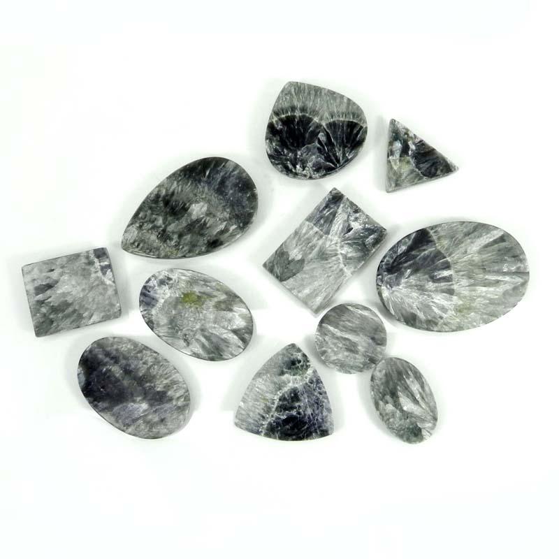 50 Grams Seraphinite Mix Shape Cabochon Wholesale Lot