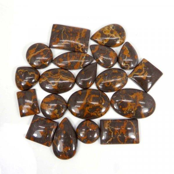 50 Grams Spider Web Jasper Mix Shape Cabochon Wholesale Lot