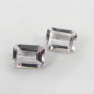 5x6mm Pink Morganite Gemstone Octagon Cut 0.85 Cts