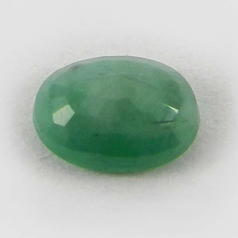 5x7mm Natural Green Emerald 0.70 Cts Oval Cut