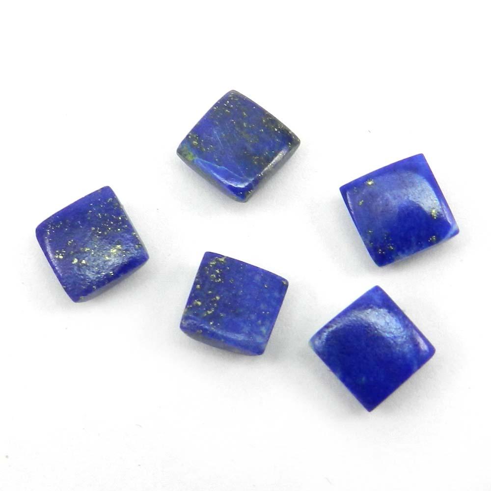 6x6mm Square Checker Rose Cut 1.3 Cts Natural Lapis Lazuli