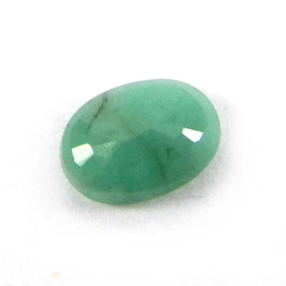 6x8mm Natural Green Emerald Oval Cut 1.10 Cts