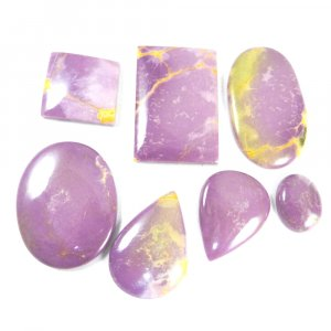 7 Pcs Phosphosiderite Jasper Mix Cabochon 500 Cts