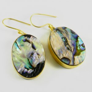 Abalone Shell Gemstone Earring 18k Gold plated jewelry IG2743