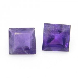 African Amethyst 10x10mm Square Cut 4.3 Cts
