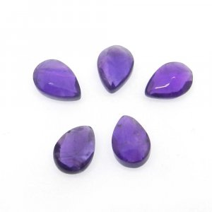 African Amethyst 10x7mm Pear Smooth Briolette 2.25 Cts