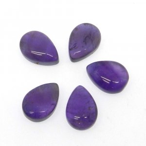 African Amethyst 10x7mm Pear Smooth Briolette 2.85 Cts