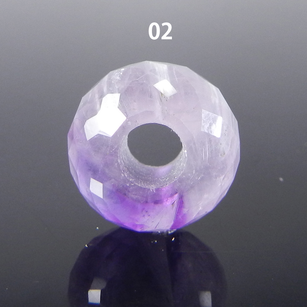 African Amethyst 14x8x4.5mm Roundel Facet  Beads