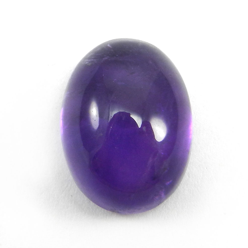African Amethyst 16x12mm Oval Cabochon 11.8 Cts