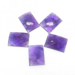 African Amethyst 18x13mm Rectangle Checker Cut 13.5 Cts