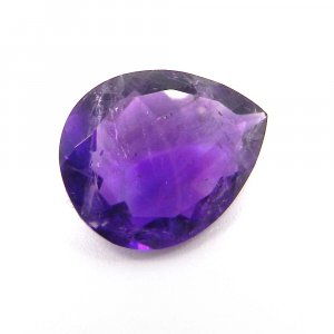 African Amethyst 20x16mm Pear Faceted 13.85 Cts