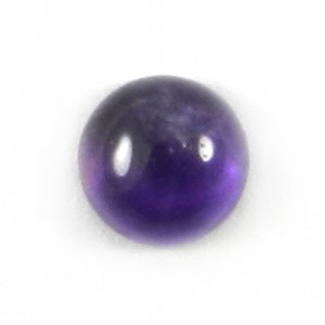 African Amethyst 5mm Round Cabochon 0.6 Cts