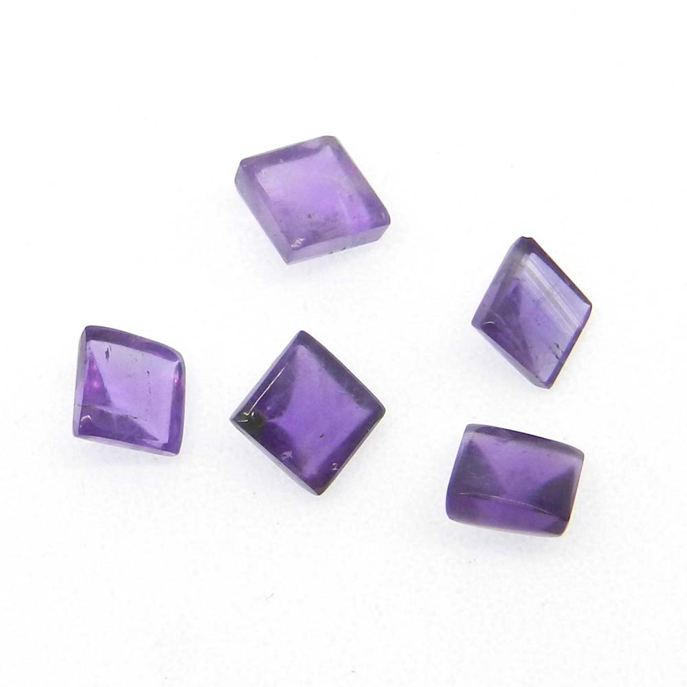 African Amethyst 5x5mm Square Cut 0.79 Cts