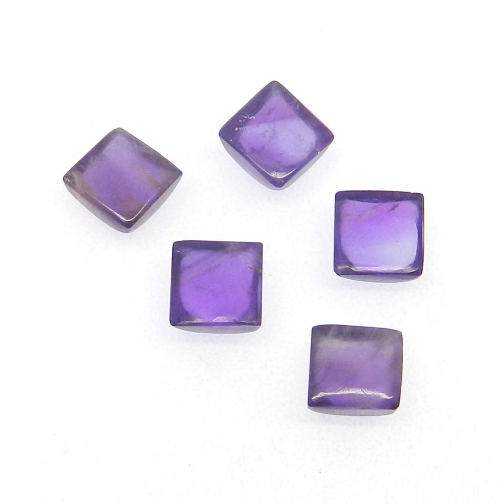 African Amethyst 6x6mm Square Cabochon 1.43 Cts