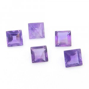 African Amethyst 6x6mm Square Cut 1.15 Cts