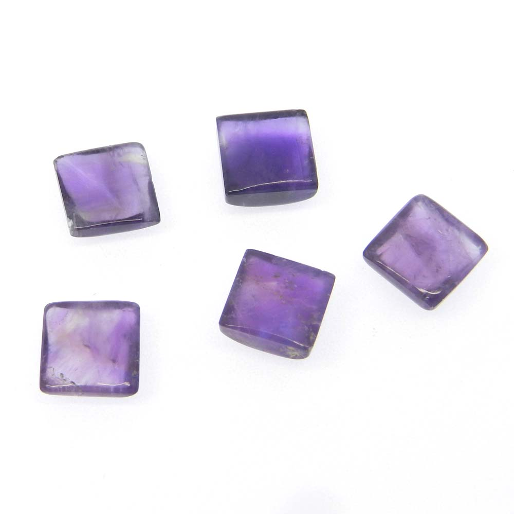 African Amethyst 9x9mm Square Cabochon 3.98 Cts