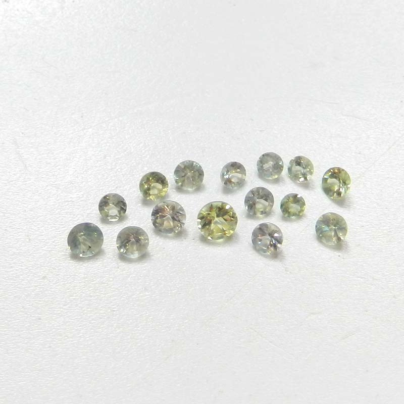Alexandrite Color Change 3x3mm Round Faceted Cut 0.13 Cts