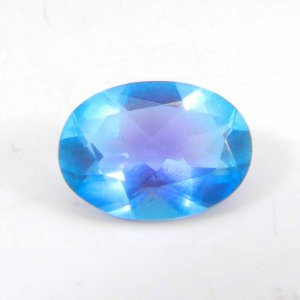 Alexandrite Doublet 15x10mm Oval Faceted Cut 6.80 Cts