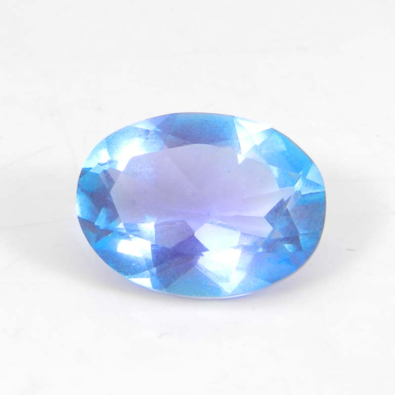 Alexandrite Doublet 15x11mm Oval Faceted Cut 7.30 Cts