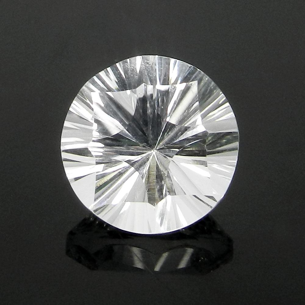 Amazing Crystal Quartz Gemstone 14mm Round Concave Cut 9.35 Cts