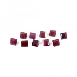 Amazing Indian Ruby 5x5mm Square Faceted Cut 1.05 Cts