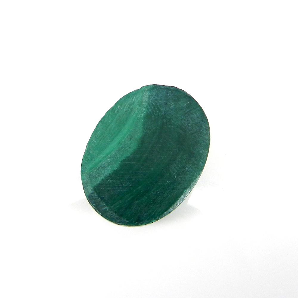 Amazing Malachite Gemstone 19x14mm Oval Cabochon 19.85 Cts