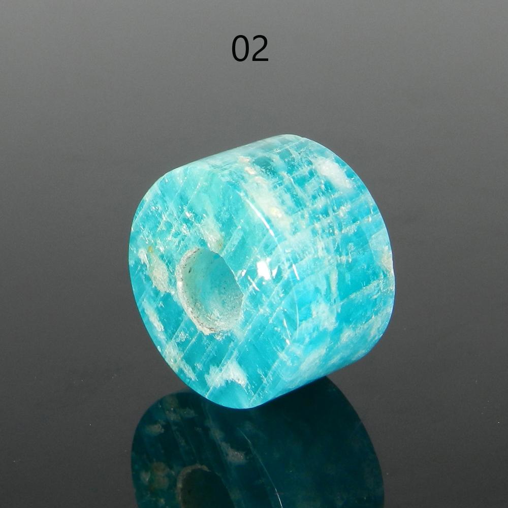 Amazonite 14x8x4.5mm Round Flat Beads