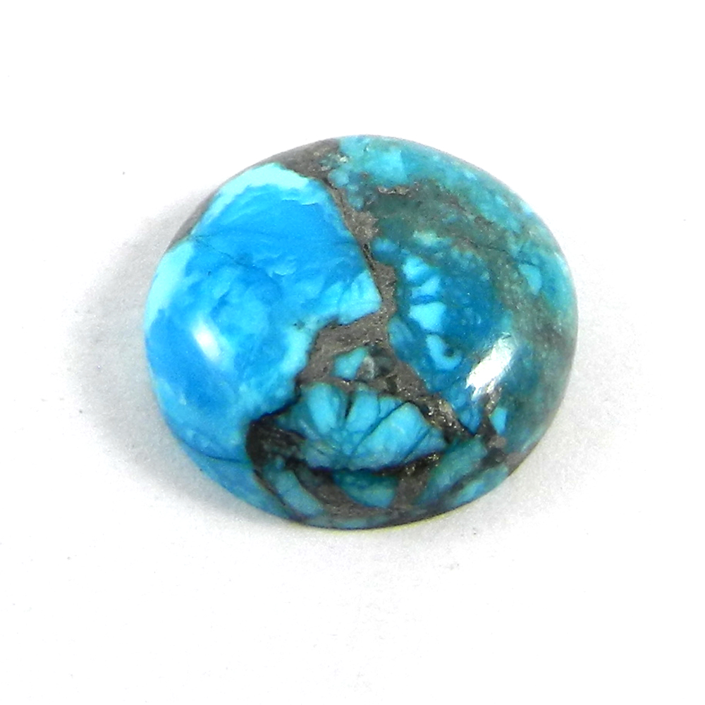 American Turquoise 16mm Round Cabochon 10.25 Cts