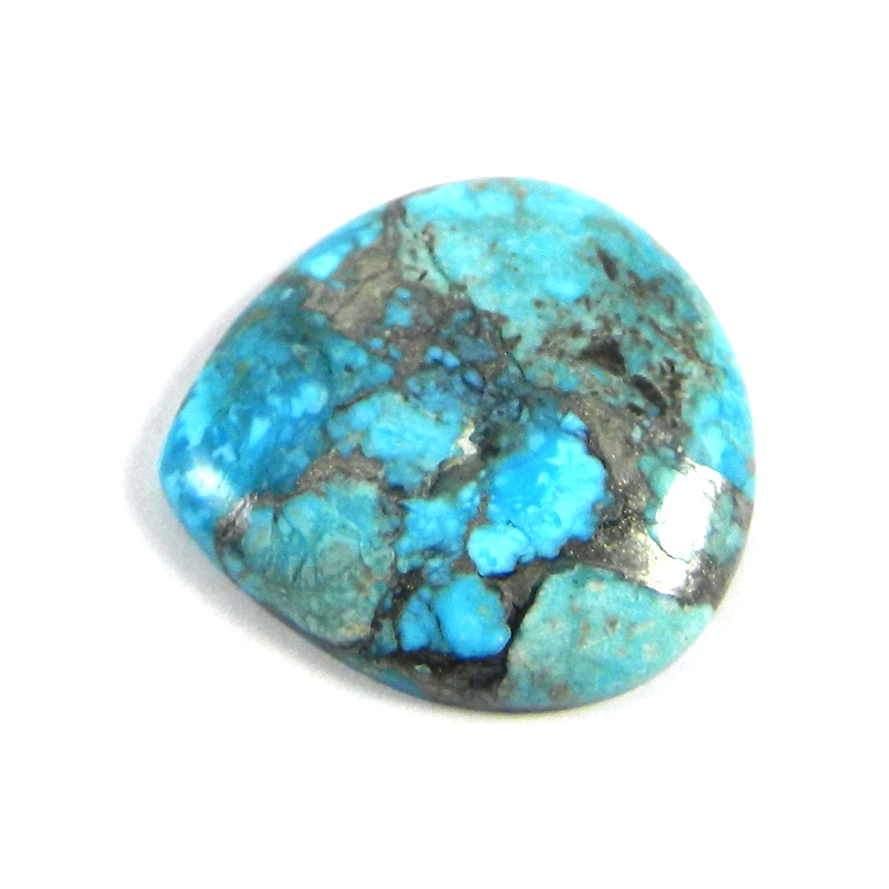 American Turquoise 24x24mm Heart Cabochon 18.75 Cts