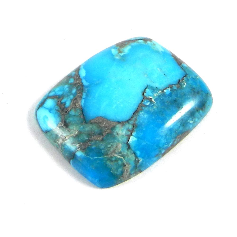 American Turquoise 25x21mm Cushion Cabochon 21.25 Cts