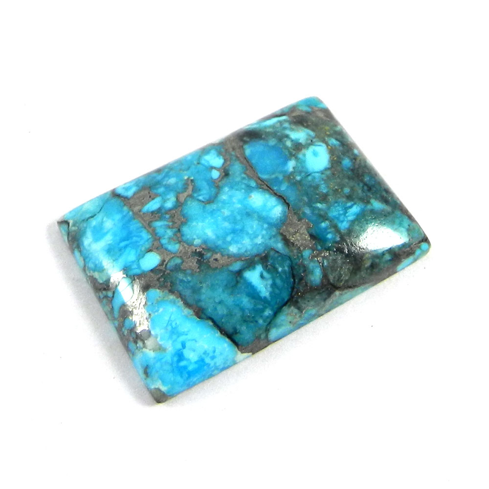 American Turquoise 29x20mm Rectangle Cabochon 28.25 Cts