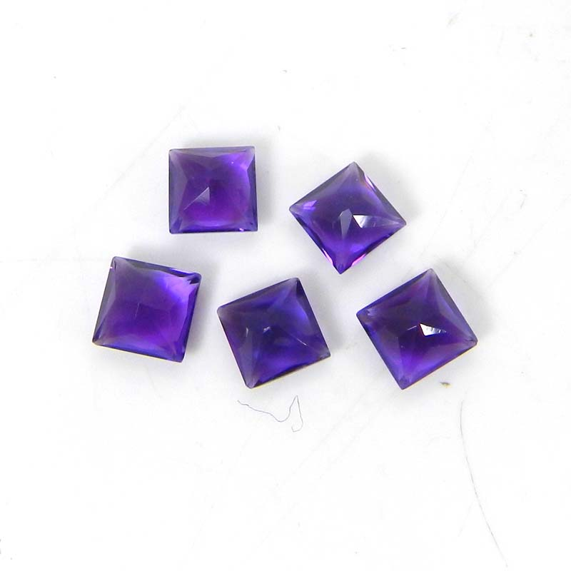 Amethyst 5x5mm Square Faceted Cut 0.60 Cts