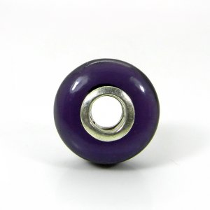 Amethyst Hydro Big Hole Roundel Smooth Plain Silver Core Beads 16x10x4mm 19.80 Cts