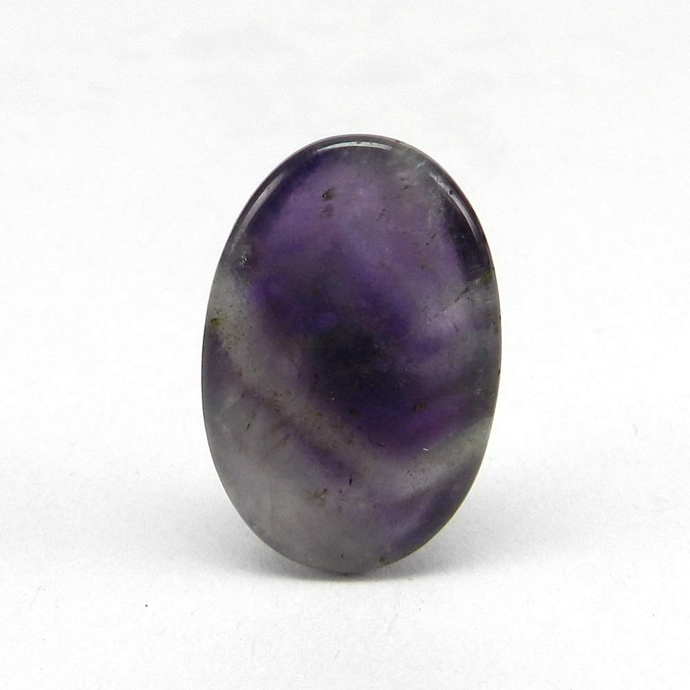 Amethyst Lace Agate 24x16mm Oval Cabochon 22.9 Cts